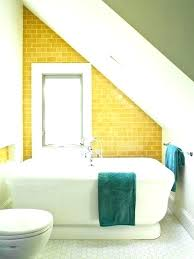 small attic bathroom sloped ceiling bathroom design ideas sloping ceiling attic small bathroom ideas sloped ceiling