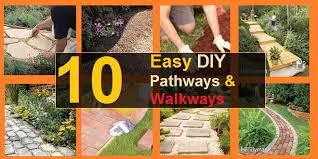 10 easy diy pathways walkways