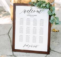 Wedding Seating Chart Template Seating Plan Printable Seating Poster Seating Arrangements Edit In Word Or Pages