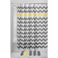 delightful design gray yellow shower curtain trendy ideas interdesign chevron 72 x various colors