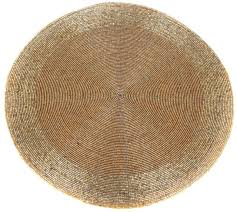 round gold furniture dining table woven glass bead placemat 30cm