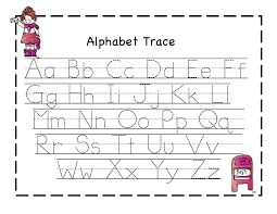 Traceable Alphabet Worksheets For Preschoolers Cute Letter Tracing ...