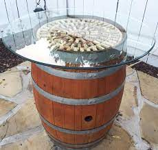 wine barrel cocktail table tutorial