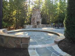 outdoor stone patio and stone fire place the devaughn project