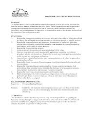 loan officer resume example resume federal credit union is seeking a consumer loan officer to a loan officer assistant job description