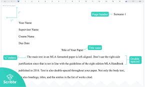 mla format for academic papers free