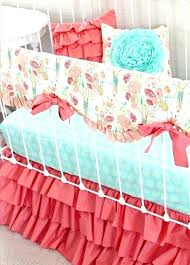 peach nursery bedding c baby bedding peach mint c baby bedding ruffle crib rail by c peach nursery bedding