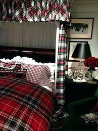 ralph lauren plaid bedding comforter king red