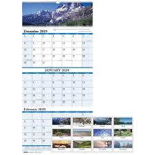 Wholesale Wall Calendars 3 Month By Doolittle Discounts On