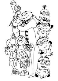 Small Picture 248 best Minions coloring pages images on Pinterest Colouring