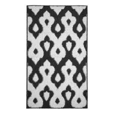 caravello dark gray 2 ft x 4 ft area rug