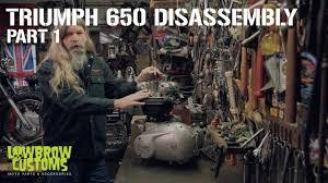 Triumph 650 <b>Motorcycle Engine</b> Disassembly & Rebuild Part <b>1</b> ...