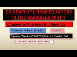 unit 2 pair of linear equations