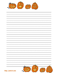 free halloween stationery templates halloween handwriting paper free lined stationery templates