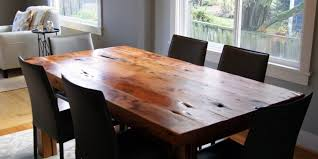 reclaimed wood dining table for
