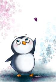 cute penguins in love drawings. Contemporary Love Cute Penguin Drawing D Inside Penguins In Love Drawings A