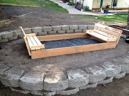 free diy sandbox with lid and benches google search diy sandbox with bench