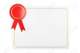 Plantilla De Diploma De Certificado En Blanco Sobre Un Fondo Blanco