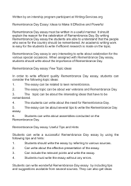 calam eacute o remembrance day essay ideas to make it effective and calameacuteo remembrance day essay ideas to make it effective and powerful