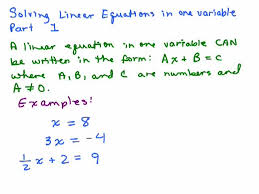 solving linear equations part 1 help