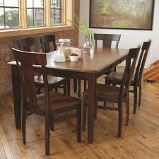 Solid Wood Dining Table Coaster Country Butcher Block Oak And - All wood dining room sets