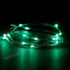 rtgs micro led 30 super bright green color indoor and outdoor string lights battery operated on