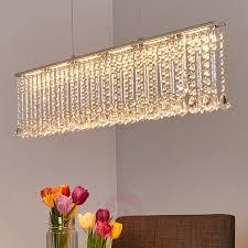 Kristallbesetzte Led Balkenpendellampe Jemaine Kaufen Lampenweltde