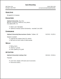 example of a resume with no job experience resume for someone with no job experience best ideas of resume