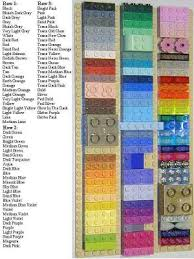 Lego Brick Colour Chart My Lego Color Chart A Lego Creation By David Vinzant