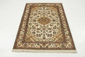 kashmir pure silk rug oriental carpet 5 3 x3 2 india hand knotted classic traditional area rugs by nain trading llc