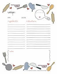 Recipe Binder Templates 44 Perfect Cookbook Templates Recipe Book Recipe Cards