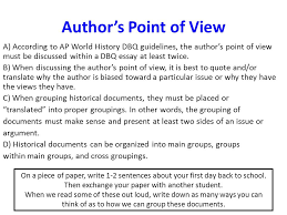 aim how can i write ap world history essays ppt video online  author s point of view