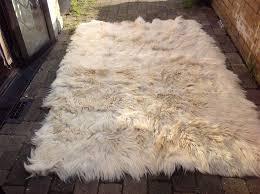 goat skin rug