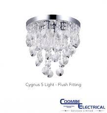 cygnus 5 light flush fitting