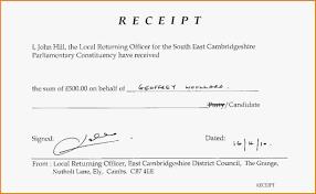 Printable Cash Receipt Template Business
