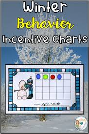 Winter Incentive Charts Incentive Charts With A Winter Theme I Love Tpt Behavior