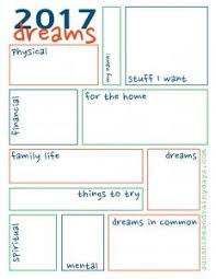 Dream Chart 2017 2017 Dream Sheet Let Yourself Dream Organize Goal