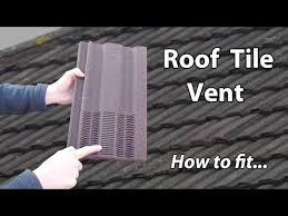 roof ventilation tile bathroom exhaust vent extractor