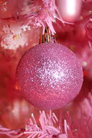 Pink Christmas Tree with Pink Lights ...