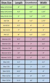 6m Shoe Size Chart Measurement Charts For Hats Gloves And Slippers Crochet