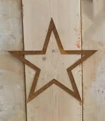 flat outline rusty metal stars 5