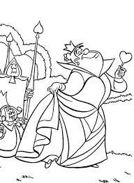 Regina Di Cuori E Re Alice Nel Paese Delle Meraviglie Disegno Da