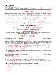 Teacher Resume Objective Sample Epic English Teacher Resume Example Or Sample Teaching