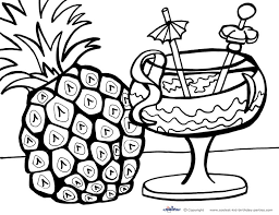 Small Picture Printable Luau Coloring Page 2