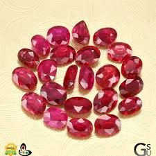 Ruby Gemstone Color Chart Burmese Ruby Old Burma Ruby And New Burma Ruby Stone Effects