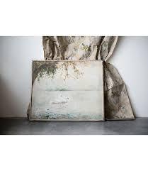 wood framed wall decor w vintage swans