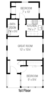 Single Wide Mobile Home Floor Plans 2 Bedroom Cottage Style House Plan 2 Beds 100 Baths 557 Sq Ft Plan 915 16