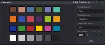 Davinci Resolve Tip Using A Color Chart To Match Your Shots