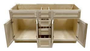 Unfinished Poplar Drawers And Sink Base Vanity Bathroom Cabinet 60