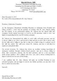 Sample Medical School Resume Medical School Resume For Residency Recommendation Letter Examples 50